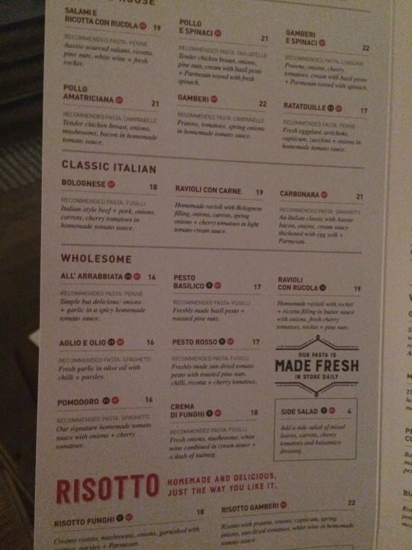 メルボルンのイタリアン料理「VAPIANO」