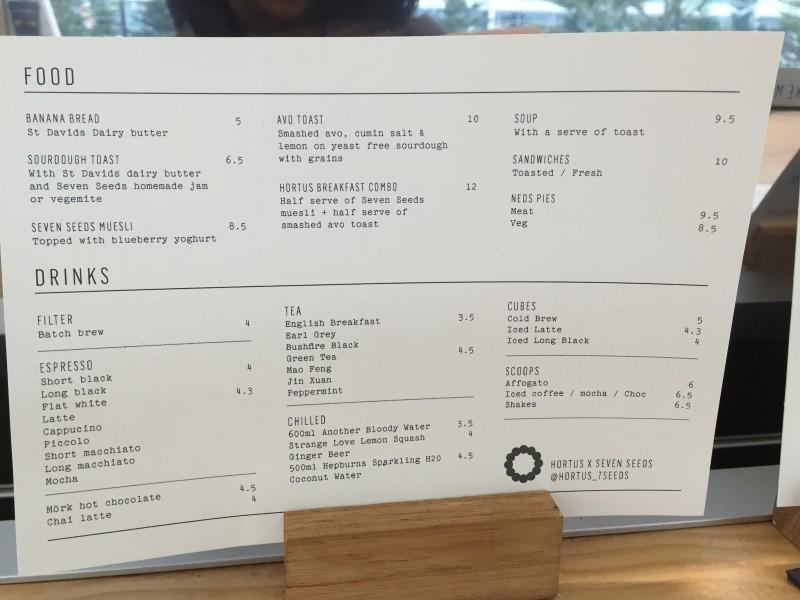 メルボルンのカフェ「HORTUS × SEVRN SEEDS」