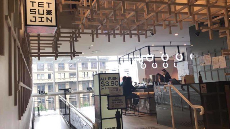 エンポリウムの中にある回転寿司と焼肉の楽しめるレストラン「Tetsujin」